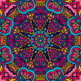 Festive Colorful seamless pattern star mandala