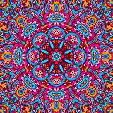 ethnic mandala floral pattern