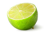 Half of juicy lime vertically