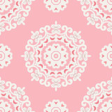 cute pink mandala pattern