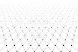 Diminishing perspective. Diamonds pattern.