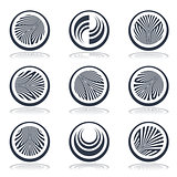Circle design elements.