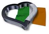 irish flag and heart symbol - 3d rendering