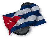 cuba flag and paragraph symbol - 3d illustration