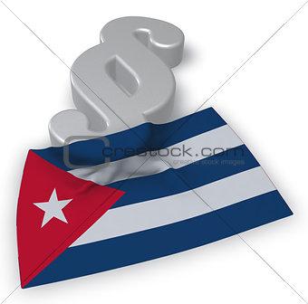 cuba flag and paragraph symbol - 3d illustration