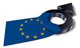 male symbol and flag of the european union - 3d rendering