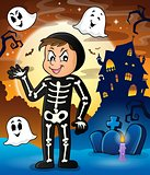 Boy in Halloween costume theme image 2