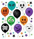 Halloween balloons theme set 1