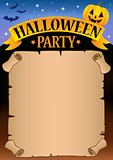 Halloween party parchment theme 1