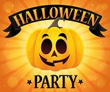 Halloween party sign composition image 1