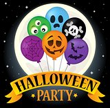 Halloween party sign composition image 2