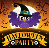 Halloween party sign composition image 3