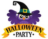 Halloween party sign theme image 2