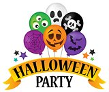 Halloween party sign theme image 4