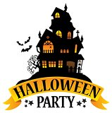 Halloween party sign theme image 5