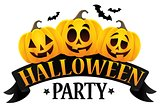 Halloween party sign theme image 6