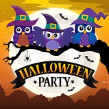 Halloween party sign theme image 7
