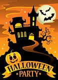 Halloween party sign theme image 8