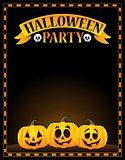 Halloween party sign topic image 1