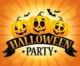 Halloween party sign topic image 6