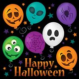 Happy Halloween sign thematic image 6