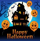 Happy Halloween sign thematic image 7