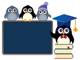 School penguins theme image 1