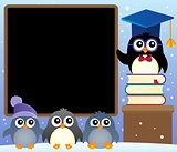 School penguins theme image 2