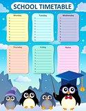 Weekly school timetable design 4