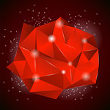 Red Polygonal Stone