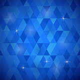 Blue Geometric Retro Mosaic Pattern