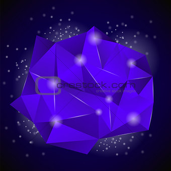 Blue Polygonal Stone