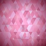 Pink Geometric Retro Mosaic Pattern