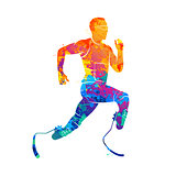 athlete runner Abstract