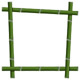 Empty frame of bamboo stalks, vector illustration.