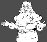 Santa Claus Gesturing Welcome