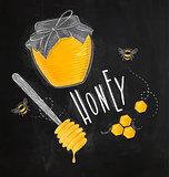 Honey elements chalk