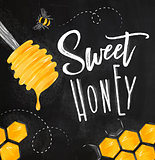 Poster sweet honey chalk