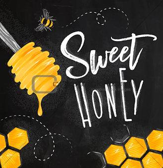 Poster sweet honey chalk