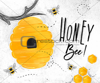Poster honey bee