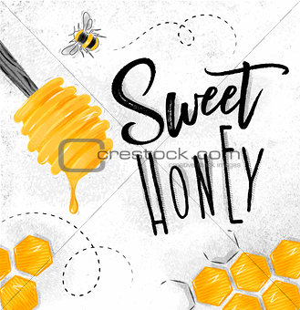 Poster sweet honey
