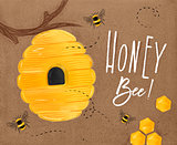 Poster honey bee craft