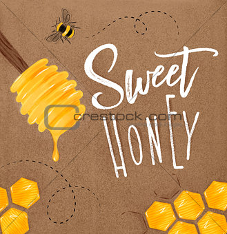 Poster sweet honey craft