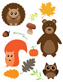 Vector Fall Animals
