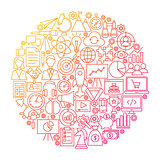 Startup Line Circle Design