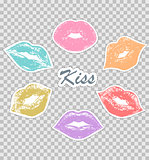 prints of female lips