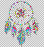 dreamcatcher on transparent background.
