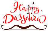 Vijaya Dashami Dussehra hindu festival. Happy Dussehra lettering text for greeting card