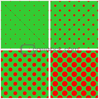 Tile red and green vector pattern set