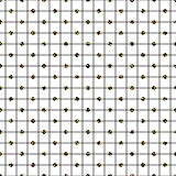 Glitter polka dot on checkered line seamless vector pattern.